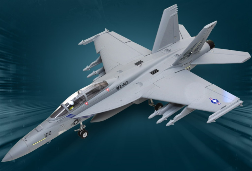 ROC F/A-18F Super Hornet 70mm EDF Jet 6S PNP Version